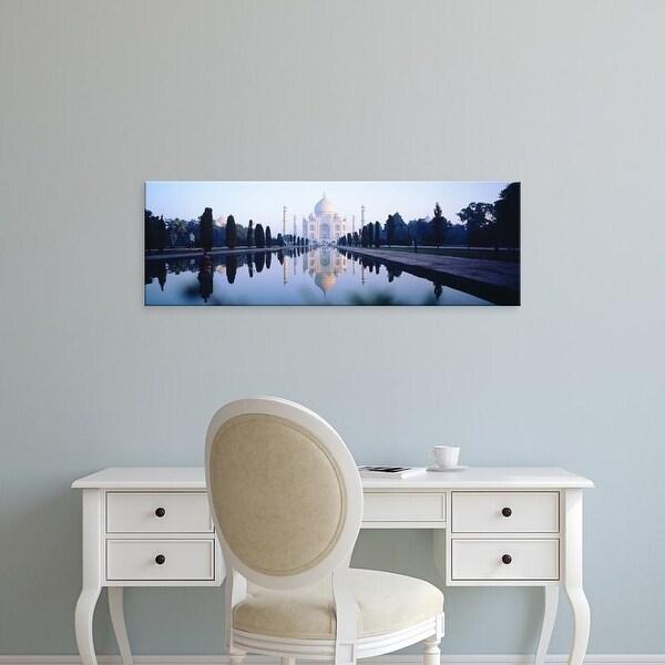 Easy Art Prints Panoramic Images's 'Taj Mahal India' Premium Canvas Art