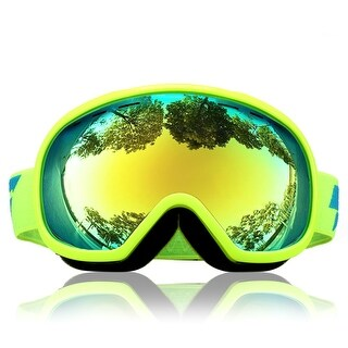 Unique Bargains LY-100 Authorized Ski Snowboard Goggles Anti-fog UV400 Protect OTG Yellow