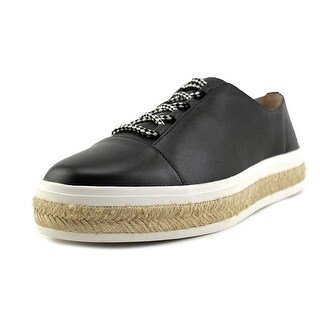 Calvin Klein Jupa Women  Round Toe Leather Black Loafer