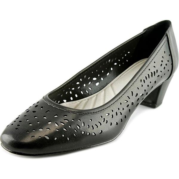 Easy Street Crystal Women  Round Toe Synthetic Black Heels