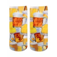 Beer for Everyone Photo Print Ankle Socks - Yellow