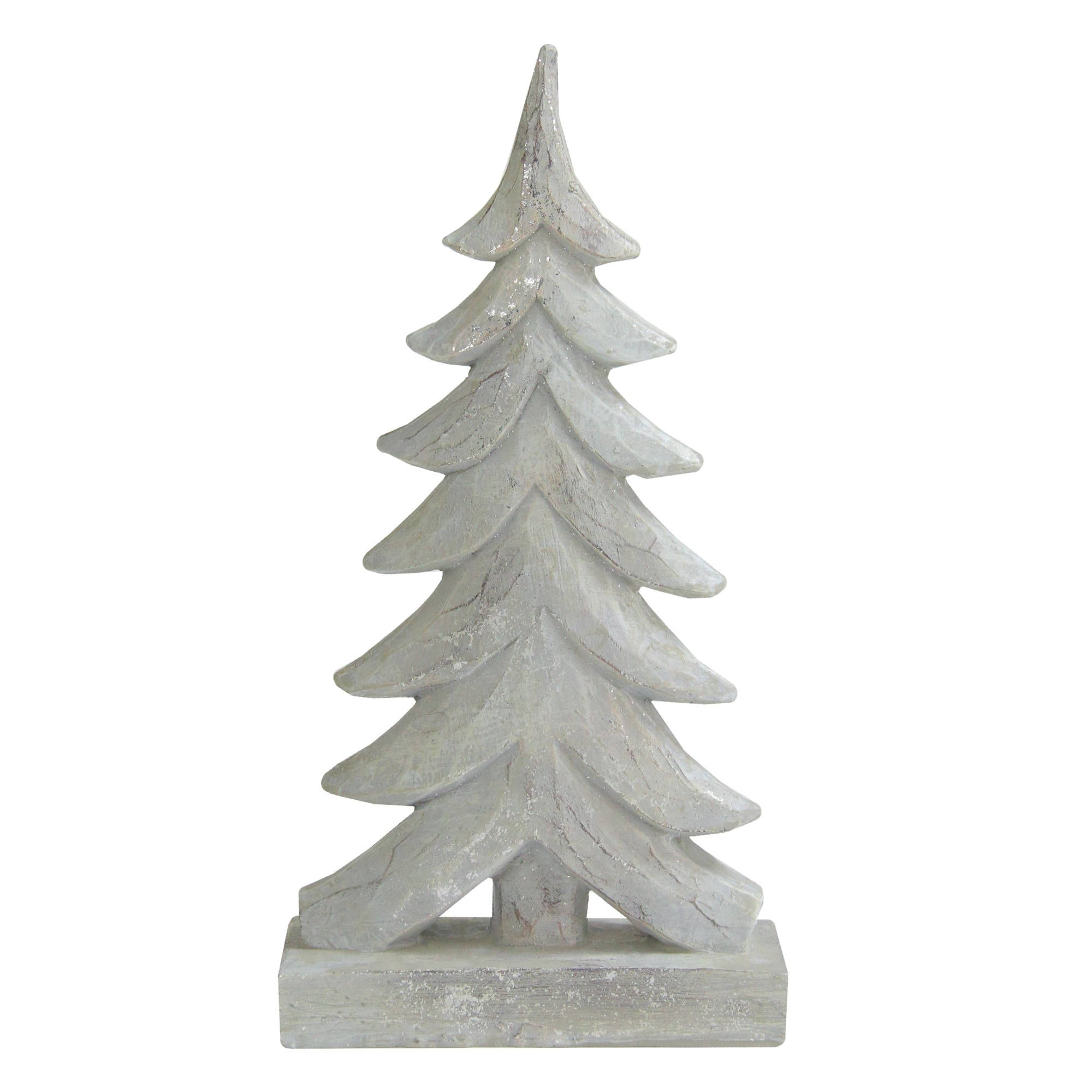Silver Distressed Faux Wood Grain