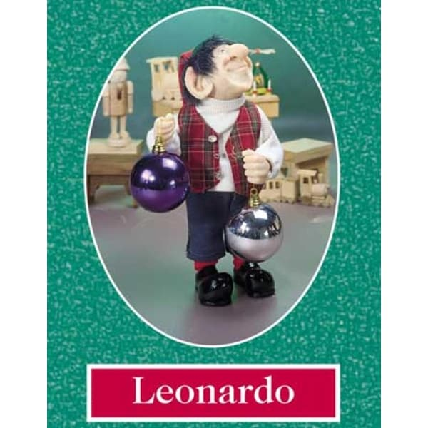 "10.5"" Zims The Elves Themselves Leonardo Collectible Christmas Elf Figure - multi"