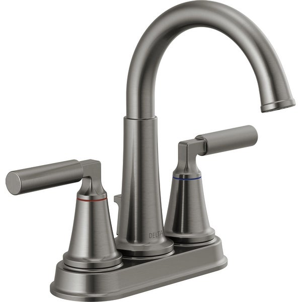 Delta 2548LF-MPU Bowery 1.2 GPM Centerset Bathroom Faucet with Pop-Up Drain Assembly