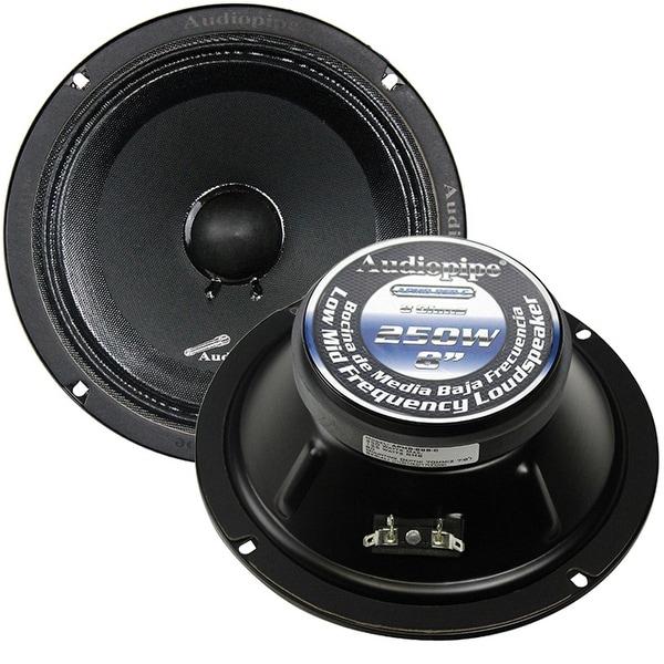 "Audiopipe APMB-8SB-C 8"" 250 Watts Max Power Midrange Speaker - Sold Each"