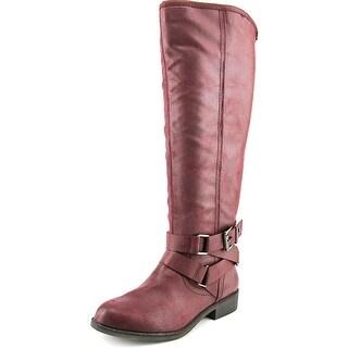 Madden Girl Corporel Women Round Toe Synthetic Burgundy Knee High Boot