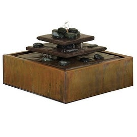 Sunnydaze Cascading Pyramid Copper Tabletop Fountain