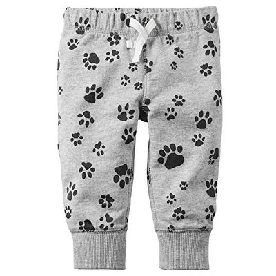 ce5ce834c Shop Carter's Baby Boys' Pull-On French Terry Pants (9 Months, Paw Print) -  paw print - Free Shipping On Orders Over $45 - Overstock - 17935030