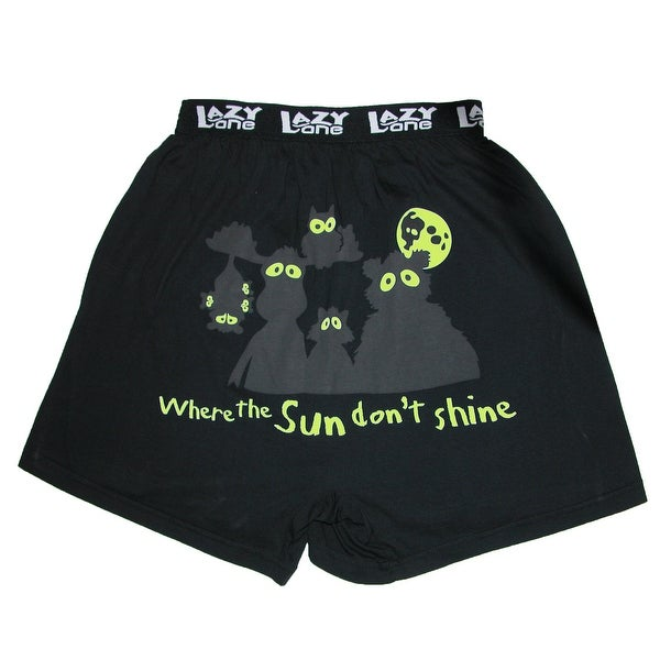 Lazy One Glow in the Dark Novelty Boxer Shorts