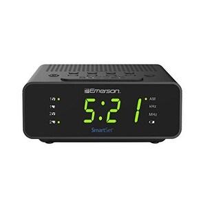 Emerson CKS1800 SmartSet Alarm Clock Radio AM//FM Radio Dimmer Sleep Time NEW