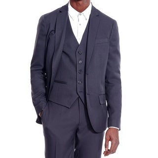 Kenneth Cole Reaction NEW Blue Mens Size 44 Large L Two Button Blazer