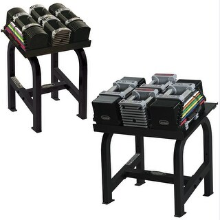 PowerBlack Club Adjustable Dumbbell Set