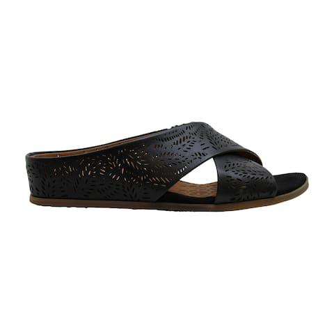 Bare Traps Womens Dafni Leather Open Toe Casual Slide Sandals