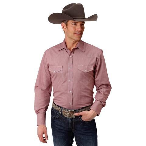 Roper Western Shirt Mens Snap L/S Tall Wine
