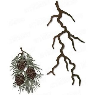 """Dee's Distinctively Dies-White Pine Branch 2.1""""X4.7"""""""