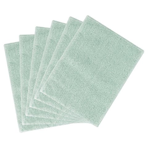"""Cleaning Cloth Towels 6pcs, 11.8"""" x 10.2"""" Highly Absorbent Pan Dish Cloths Green - 11.8"""" x 10.2"""""""