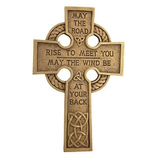 Design Toscano May the Road Celtic Cross Wall Sculpture
