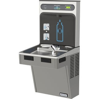 Halsey Taylor HTHB-HAC8-WF HydroBoost Single Station Indoor Filtered Water Fountain Cooler and Bottle Filler - Barrier free