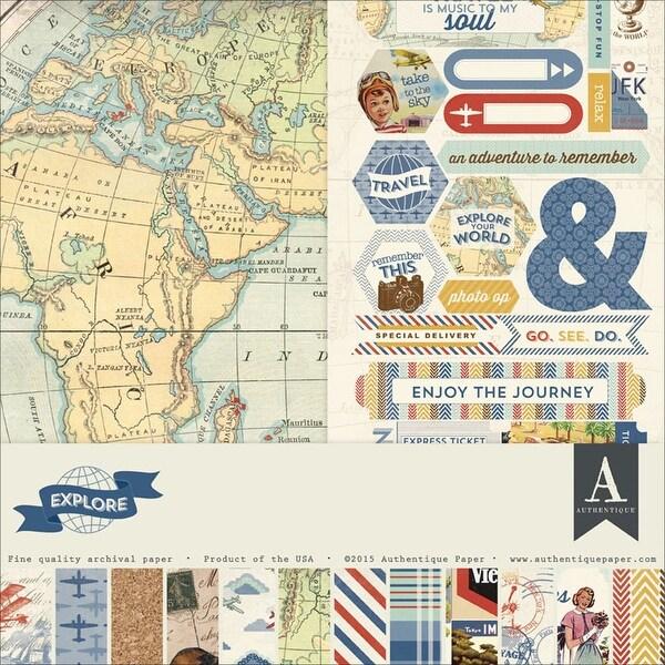 """Authentique Collection Kit 12""""X12""""-Explore"""