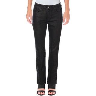 NYDJ Womens Petites Skinny Jeans Distressed Coated