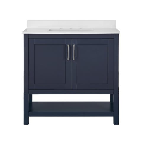 Ove Decors Vegas 36 in. Single Sink Bathroom Vanity in Midnight Blue
