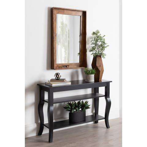 Kate and Laurel Basking Wall Mirror with Shelf