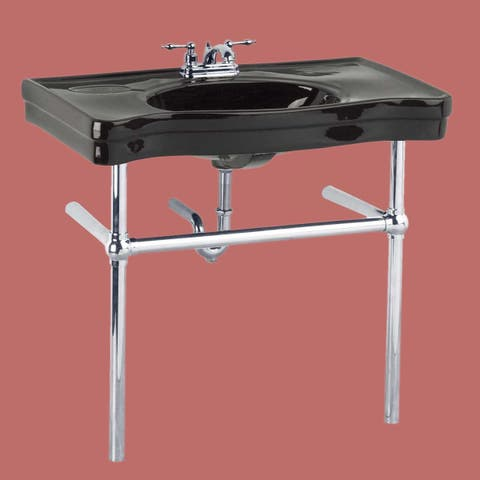 Console Sink Belle Epoque Black China Chrome Wall Mount