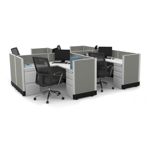 System Furniture 39H 4pack Cluster Powered