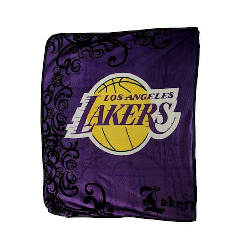Los Angeles Lakers Plush Raschel Throw Blanket 50 X 60 Inch - Purple - 0.25 X 60 X 50 inches