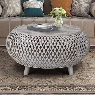 Link to Bora Bora Bamboo/Rattan Round Coffee Table Similar Items in Living Room Furniture