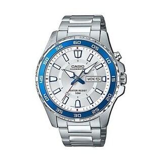 """Casio Super Illuminator Analog Wrist Watch-Silver Wrist Watch"""
