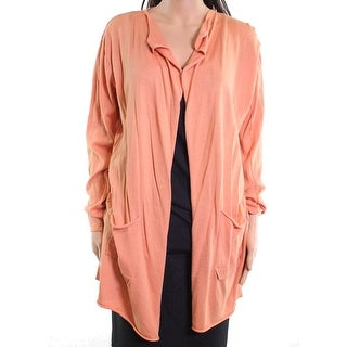Masai NEW Orange Womens Size Small S Long Open Front Cardigan Sweater