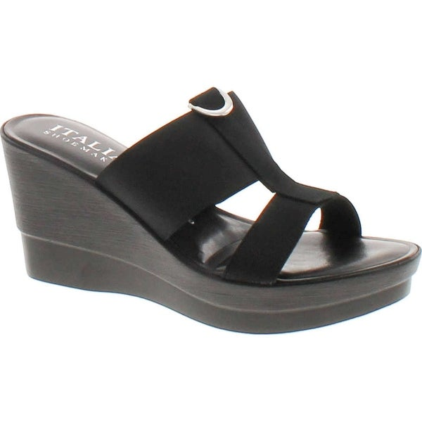 Italian Shoemakers 5916S6 Fashion Wedge Made In Italy Resort Sandals
