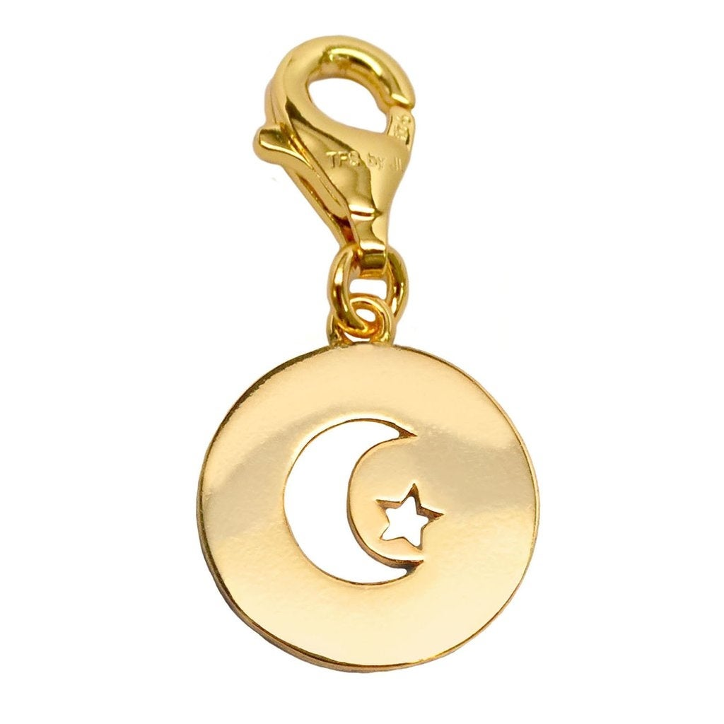 Julieta Jewelry Moon & Star Disc Clip-On Charm - Thumbnail 0