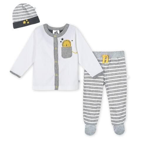 Just Born® Baby Boys' 3-Piece Organic Lil' Lion Take Me Home Set