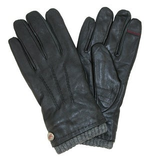 Rawlings Lamb Leather Wool Blend Cuff Touch Screen Glove - Black