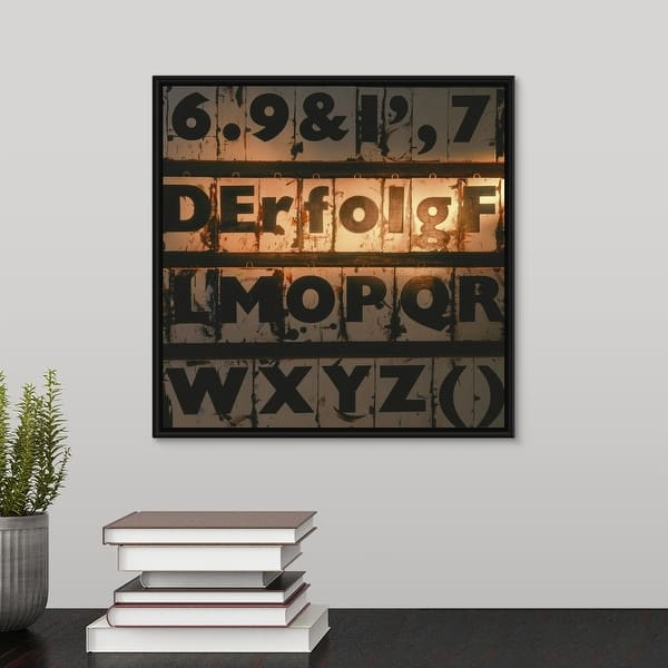 Shop German Word For Success Spelled Out Of Type Case Letters Black Float Frame Canvas Art Overstock 25516620