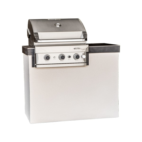 Barbeques Galore Lindsay 4 Foot Island With Turbo Elite Or 3 Burner Gas