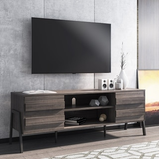 "Link to WAMPAT Mid-Century TV Stand for TVs up to 65 inch Slate Grey - 59"" Similar Items in TV Stands & Entertainment Centers"