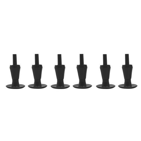 Set of 6 Black Plastic Bedframe Glides
