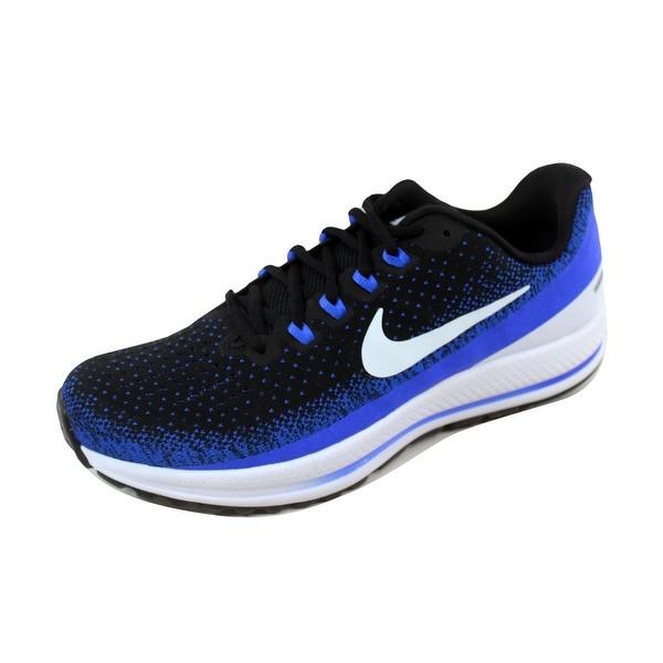 9b7ae937712f Shop Nike Men s Air Zoom Vomero 13 Black Blue Tint-Racer Blue 922908 ...