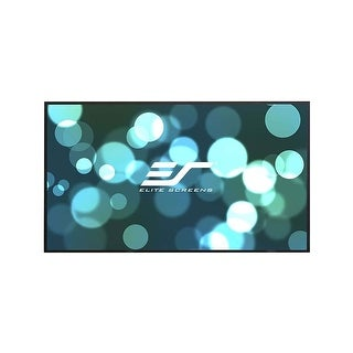 "Elite Screens Aeon Series 110"" Diagonal Edge-Free Screen with CineWhite Material (Black)"
