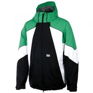 Volcom Blast Snowboarding Jacket - black/ green/ white - LARGE