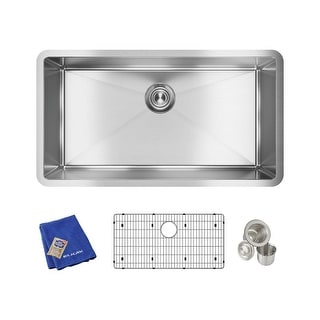 "Elkay EFRU311610TC  Crosstown 32-1/2"" Undermount Single Basin Stainless Steel Kitchen Sink with Sound Dampening"