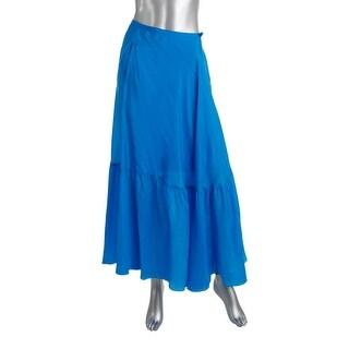 Polo Ralph Lauren Womens Silk Flounce Maxi Skirt