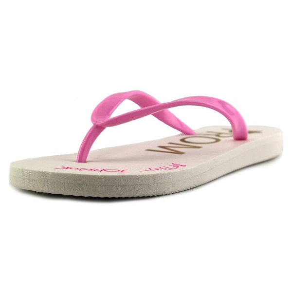 Betsey Johnson Amy Women Open Toe Synthetic Pink Flip Flop Sandal