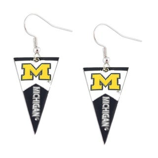 Michigan Wolverines NCAA Pennant Dangle Earring
