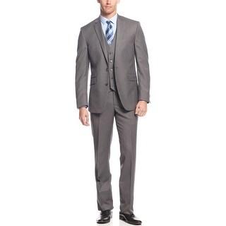 Kenneth Cole Reaction Slim Fit Mid Grey 3pc Suit 38 Short 38S Pants 31W