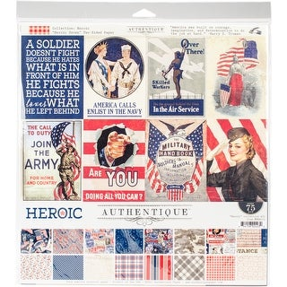 """Authentique Collection Kit 12""""X12""""-Heroic"""