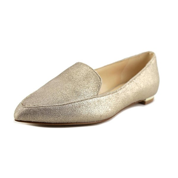 0f9181c4d5a Shop Nine West Abay Women Natural Gold Metallic Flats - Free ...